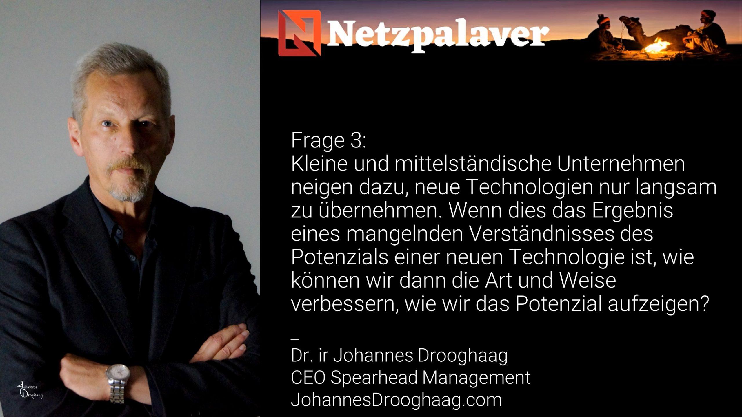 Netzpalaver: Mittelstand und Digitalisierung - Frage 3