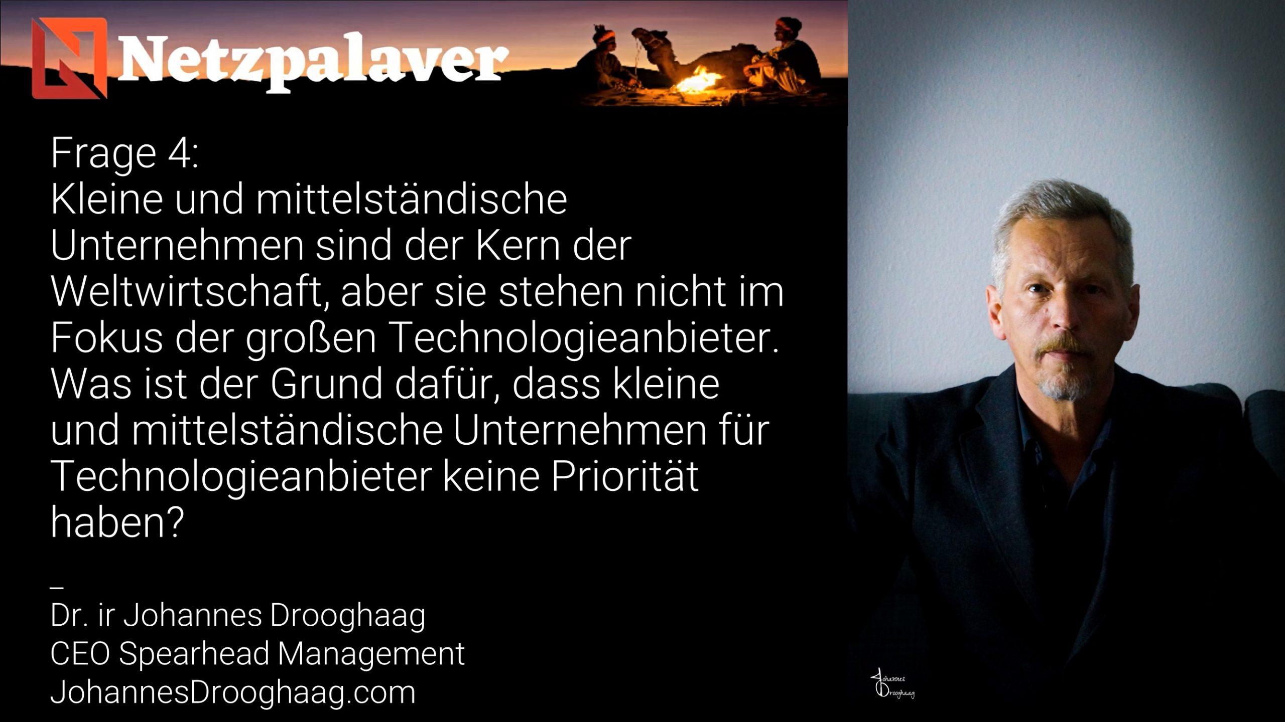 Netzpalaver: Mittelstand und Digitalisierung - Frage 4