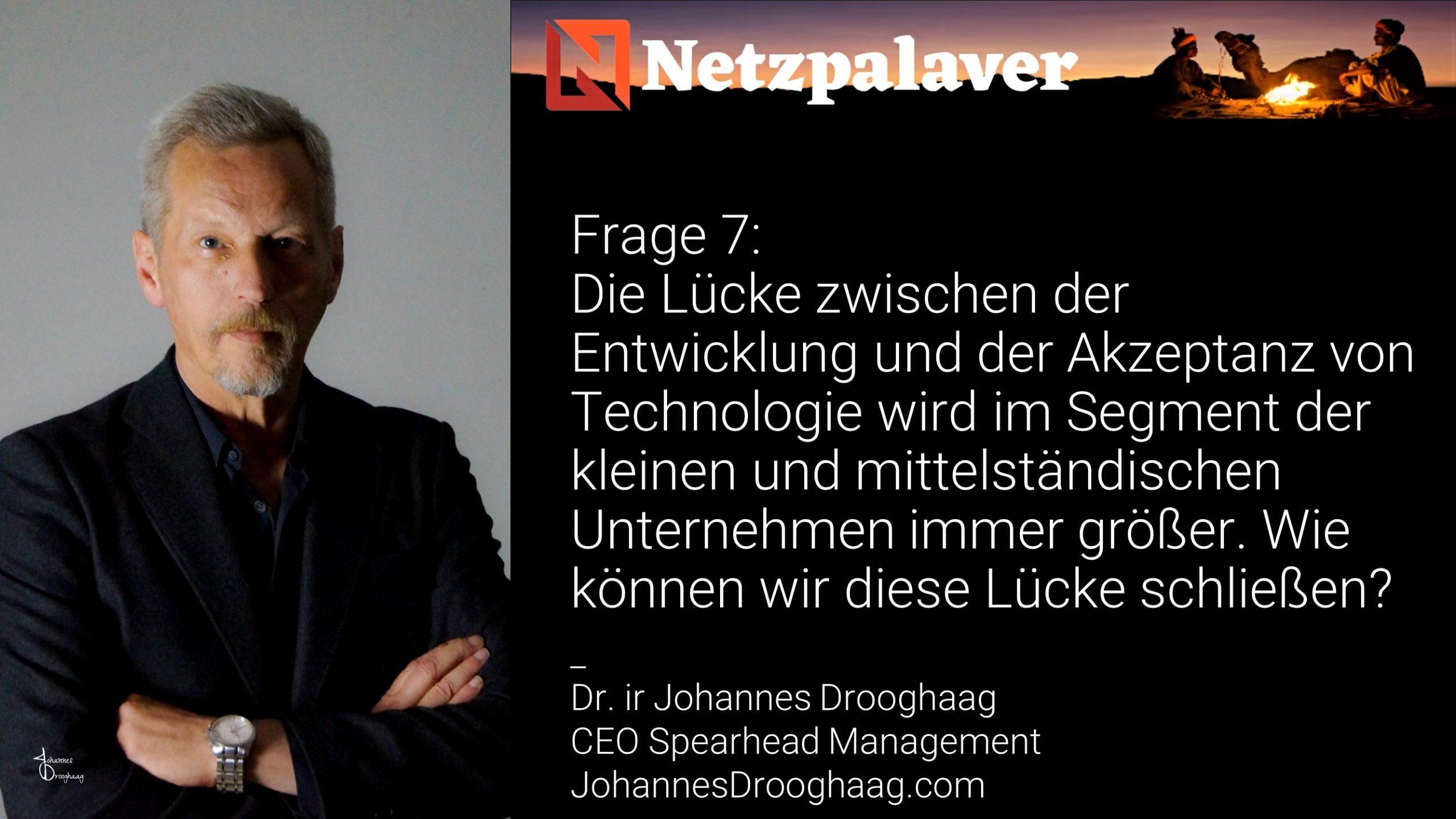 Netzpalaver: Mittelstand und Digitalisierung - Frage 7