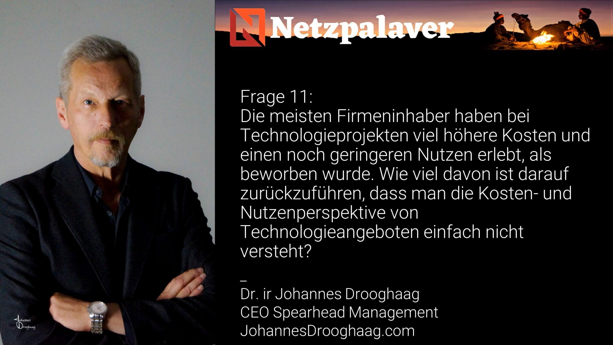 Netzpalaver: Mittelstand und Digitalisierung - Frage 11