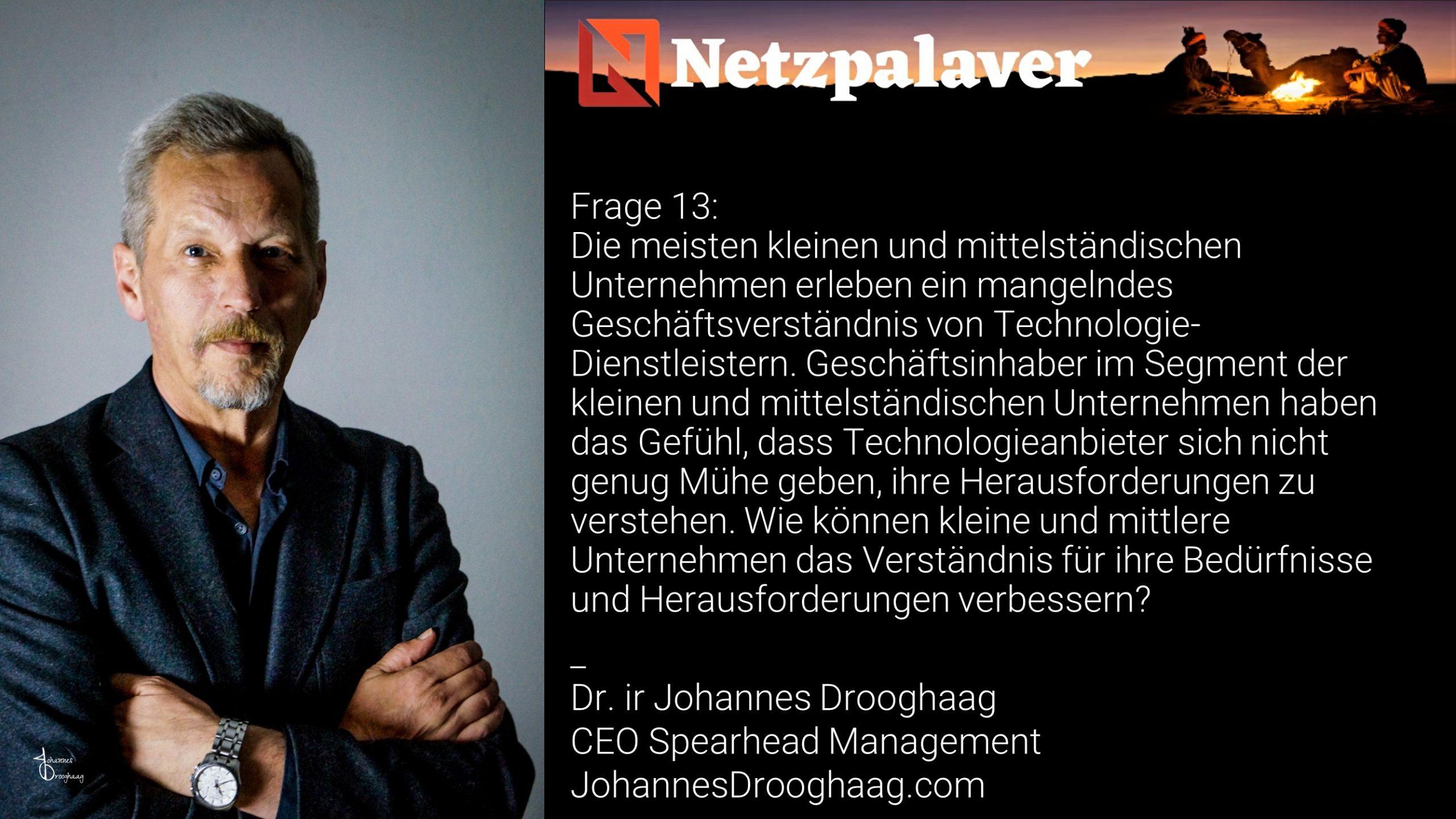 Netzpalaver: Mittelstand und Digitalisierung - Frage 13