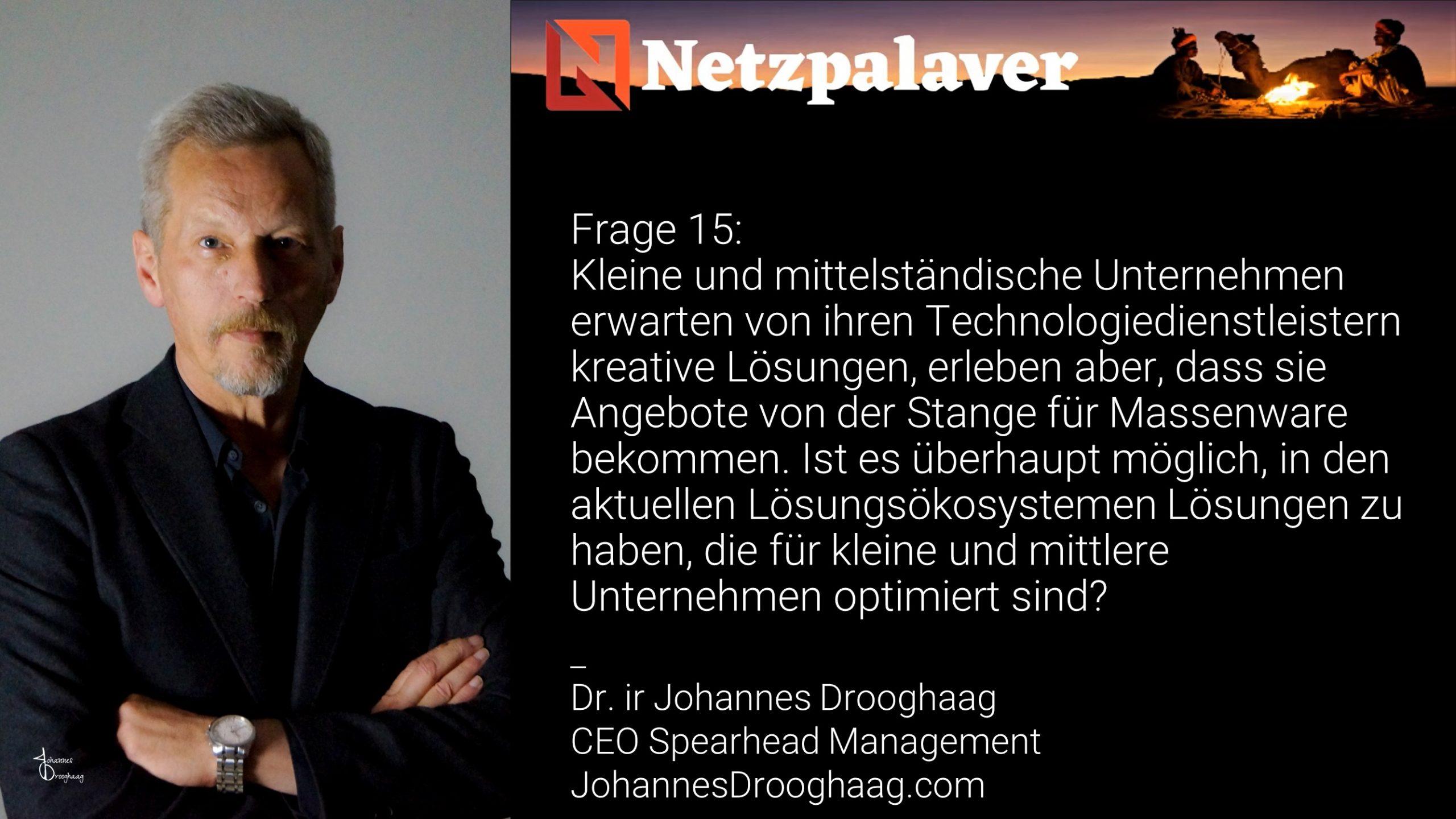 Netzpalaver: Mittelstand und Digitalisierung - Frage 15