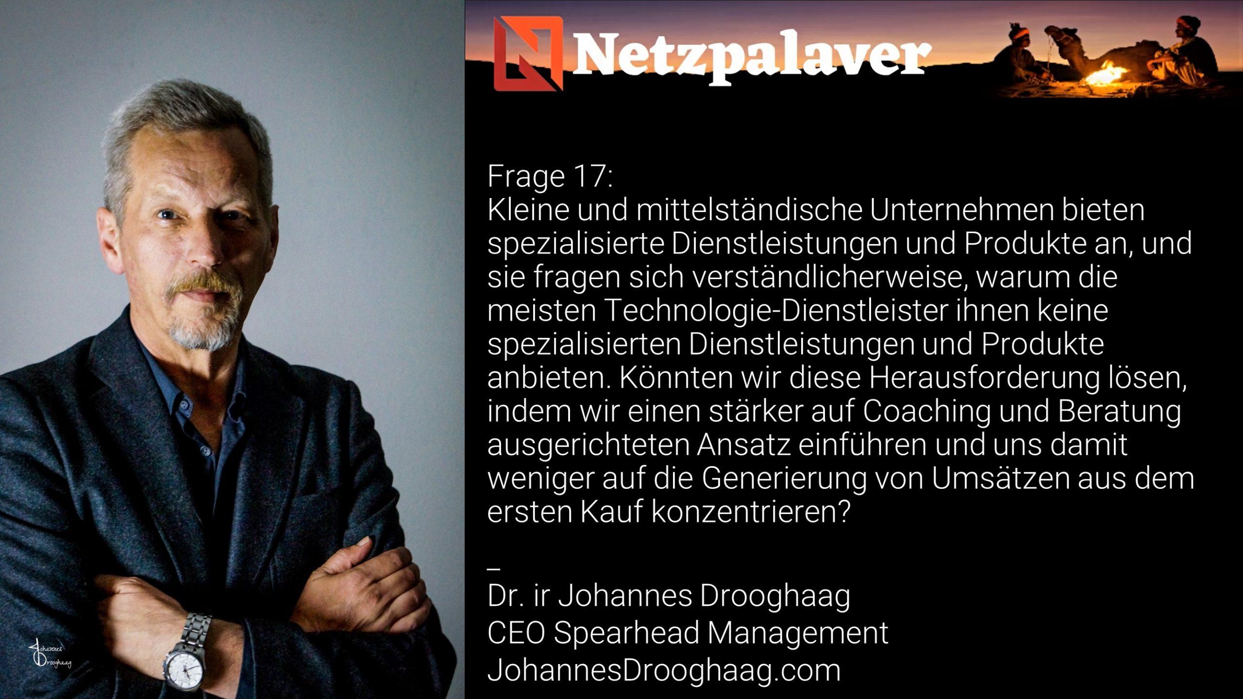 Netzpalaver: Mittelstand und Digitalisierung - Frage 17