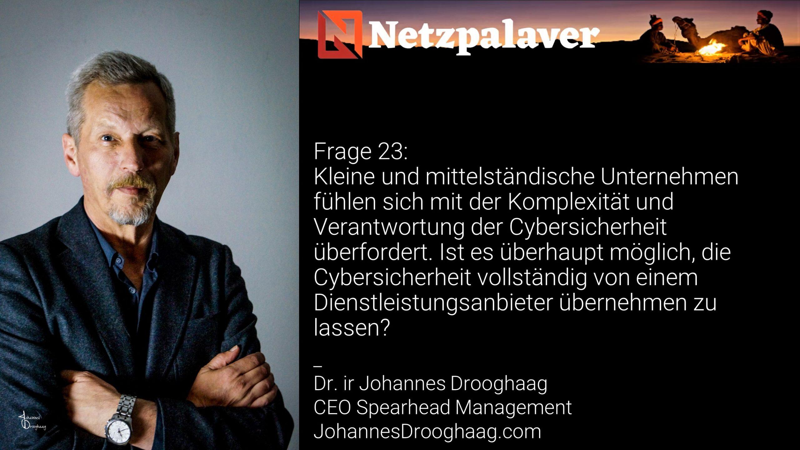 Netzpalaver: Mittelstand und Digitalisierung - Frage 23