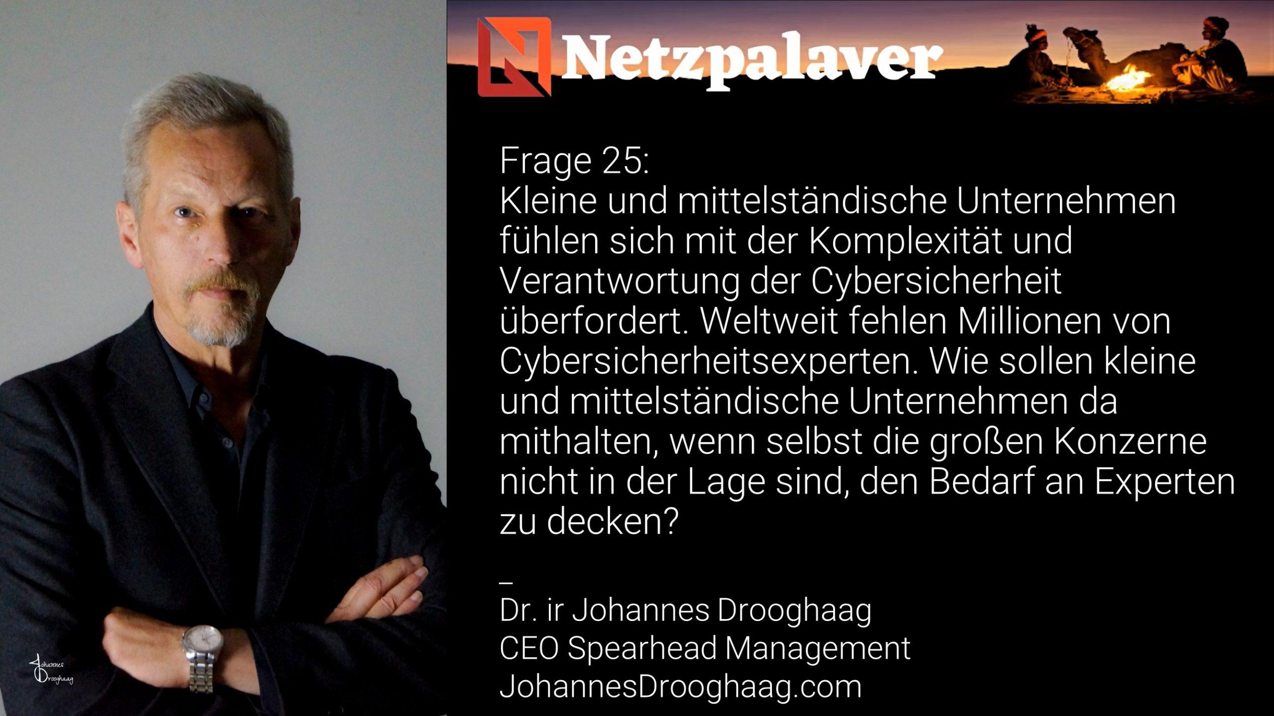 Netzpalaver: Mittelstand und Digitalisierung - Frage 25