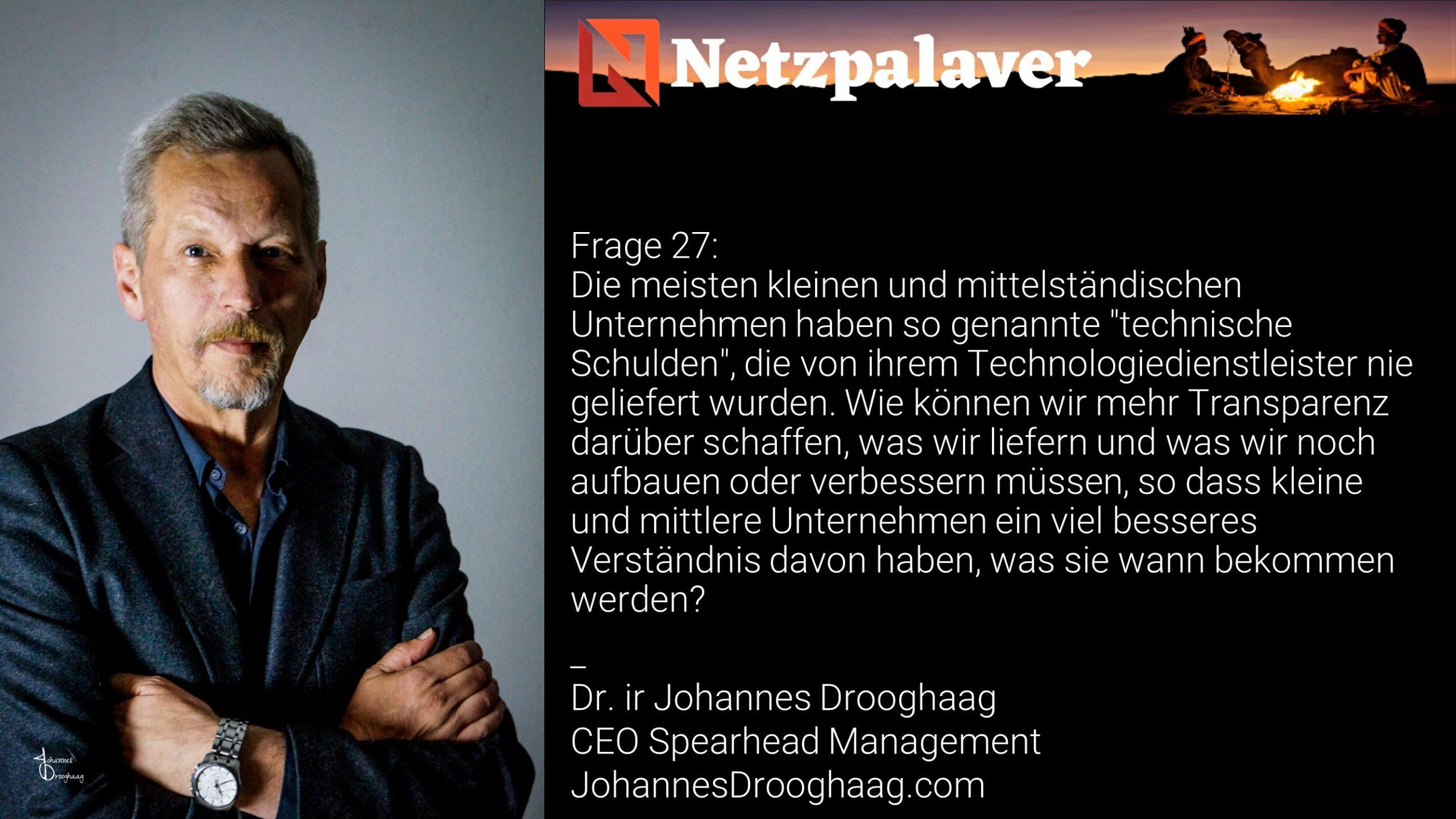 Netzpalaver: Mittelstand und Digitalisierung - Frage 27
