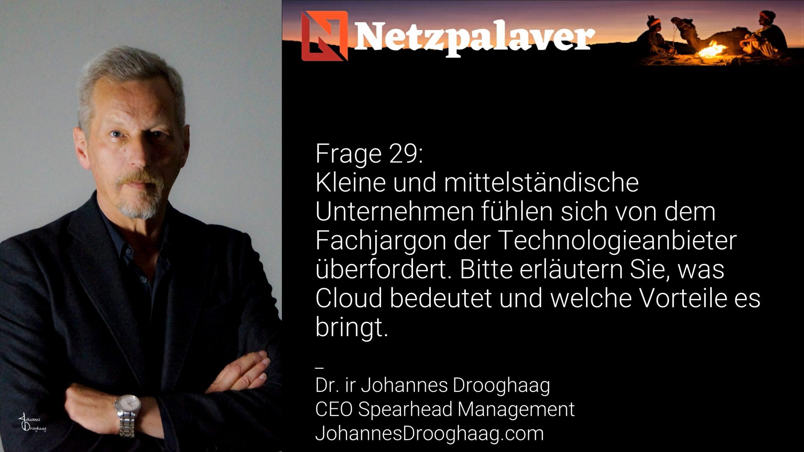 Netzpalaver: Mittelstand und Digitalisierung - Frage 29
