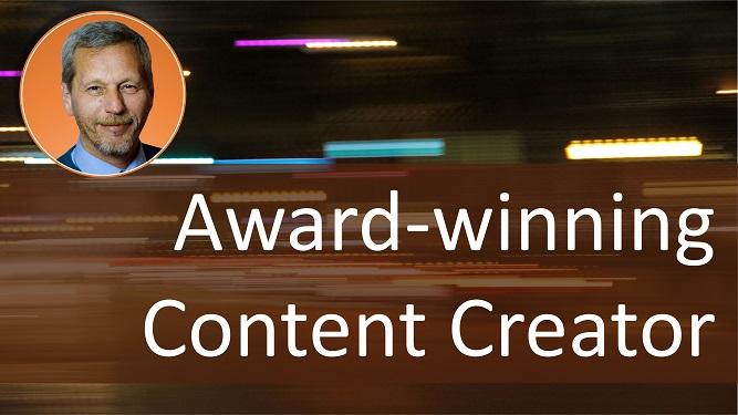 Award winning content creator Dr. ir Johannes Drooghaag