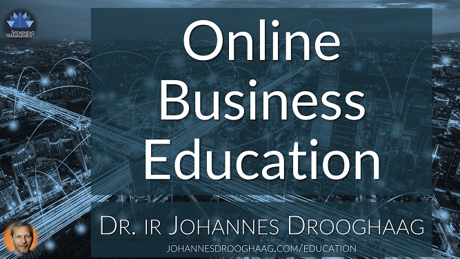 Online Business Education by Dr. ir Johannes Drooghaag