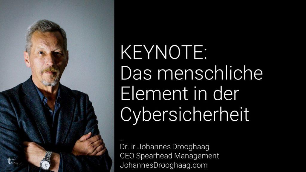 KEYNOTE: Das menschliche Element in der Cybersicherheit