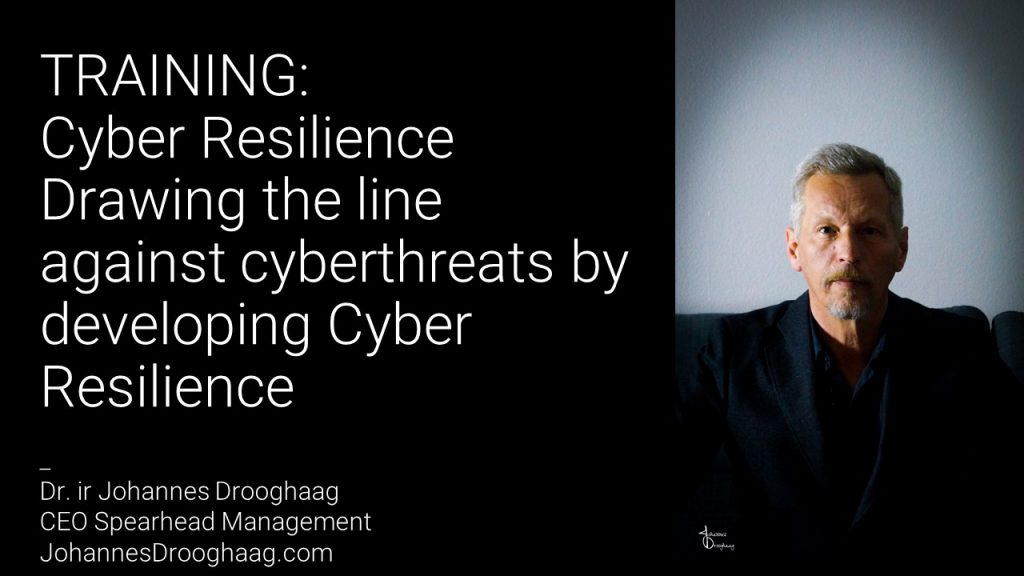TRAINING: Cyber Resilience - Drawing the line against cyberthreats by developing Cyber Resilience